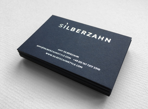 Silberzahn Style business card design